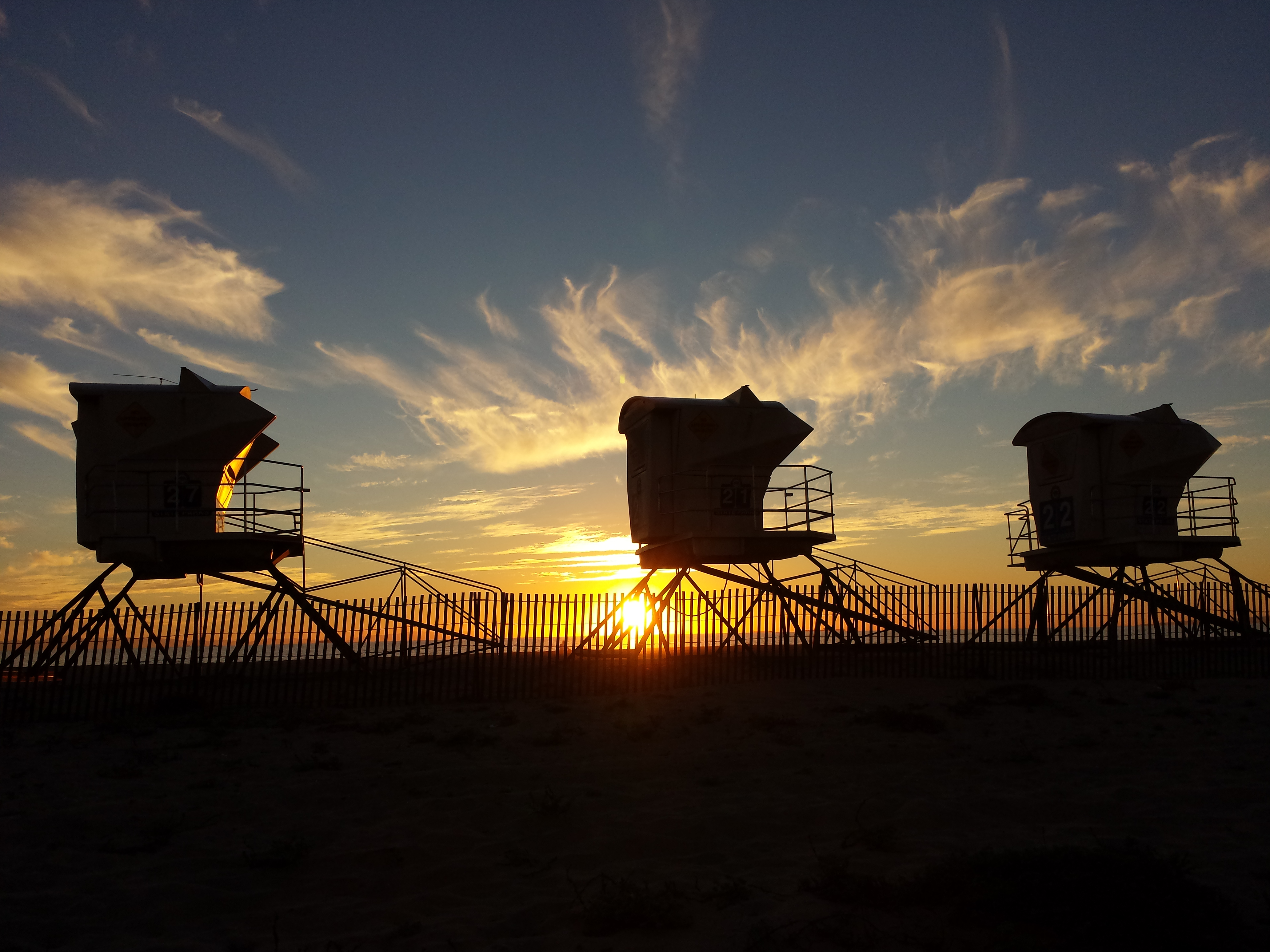 Sunset Lifeguard Stations